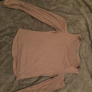 Beige Long sleeve sweater shirt